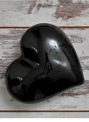Büyük Dekoratif Siyah Seramik Kalp-Joy Glass